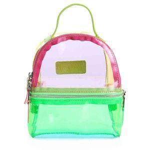 New Steve Madden Convertible Clear Mini Backpack